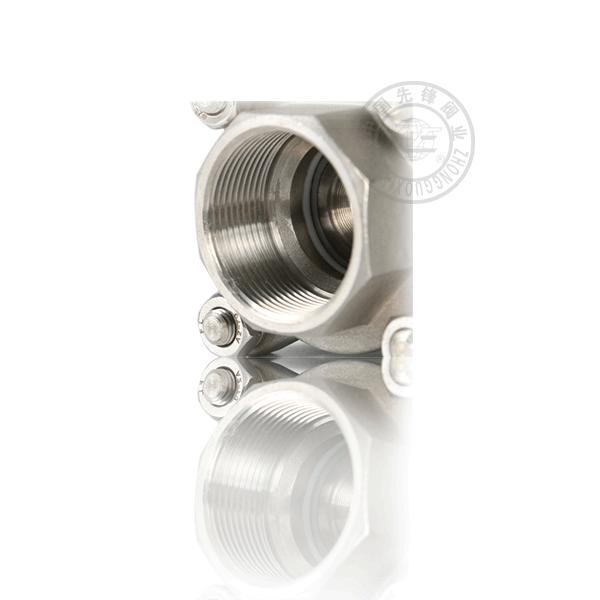 Q11F-16P/R 手動內螺紋浮動球直通流道軟密封不銹鋼(304、316)三片式球閥