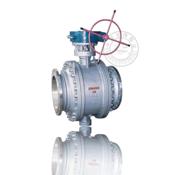 Q347H-16C 渦輪法蘭固定球直通流道硬密封鑄鋼(WCB)球閥