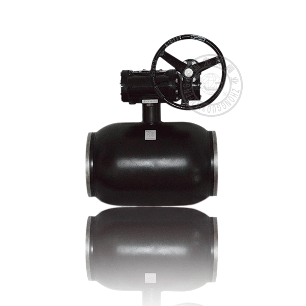 Q361H-16C 渦輪焊接浮動球直通流道硬密封鑄鋼(WCB)球閥