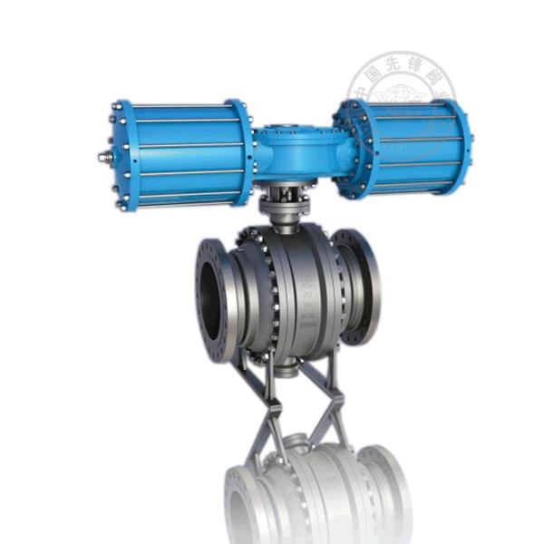 Q647H-16P/R 气动法兰固定球直通流道硬密封不锈钢(304、316)球阀